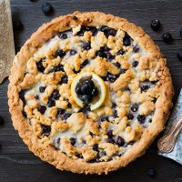 Blueberry Lemon Shortbread Tart