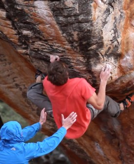 Video escalada boulder; 3 escaladores chilenos en Rocklands