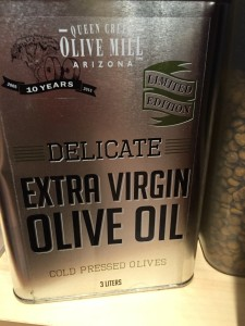 Yes, we use enough olive oil to make this purchase worth it! It's actually less $$ to buy a big tin a fill a small bottle.