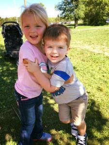 Kris' daughter Natalie with her cousin Jackson.
