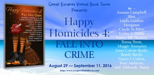 HAPPY HOMICIDES fall into crime large banner314