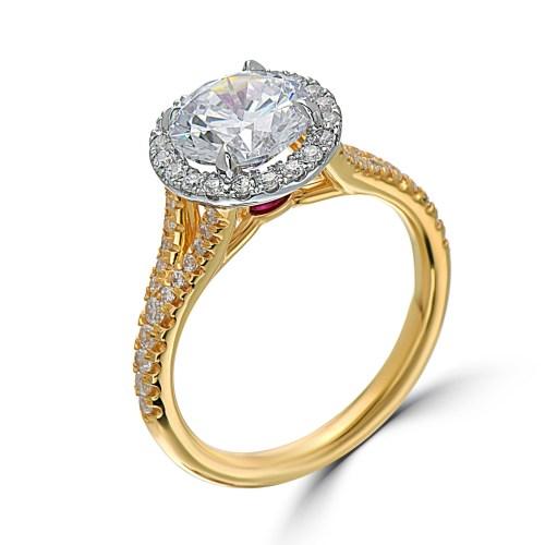 Medium Of Yellow Gold Engagement Rings