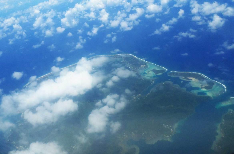 Vista aérea de Bora Bora - dicas da polinésia francesa