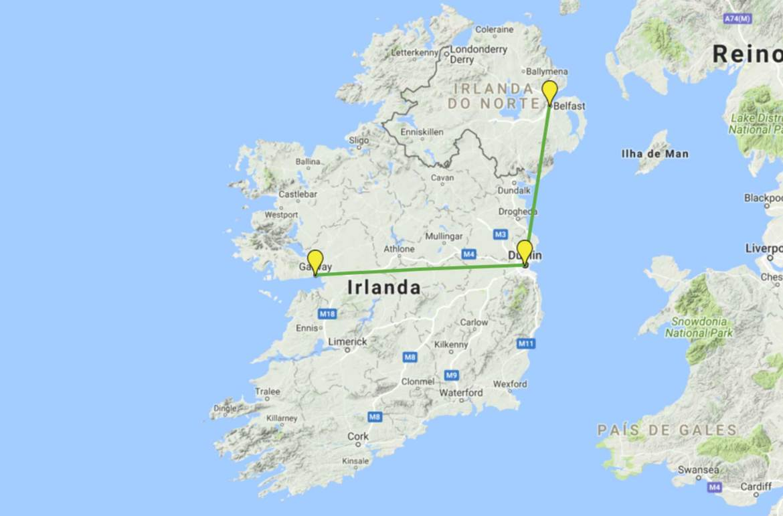 Roteiro na Irlanda e Irlanda do Norte