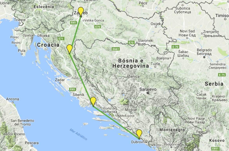 Guia de Viagem Croácia - Roteiro