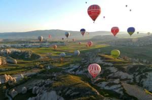 Guia de Viagem Turquia - Voo de balão na Capadócia