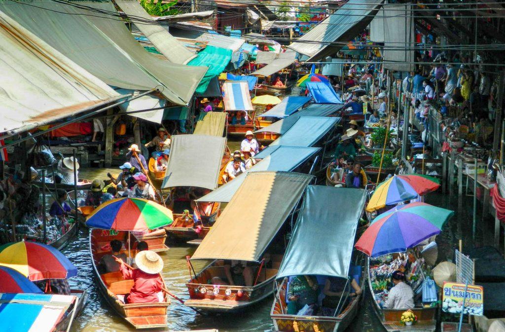 Dicas da Tailândia - Damnoen Saduak pode decepcionar