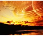 Alien Sky - Saturn - Moon - Sunset - Sunrise