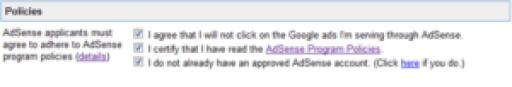 Google AdSense Policies