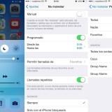 No molestar iOS 8