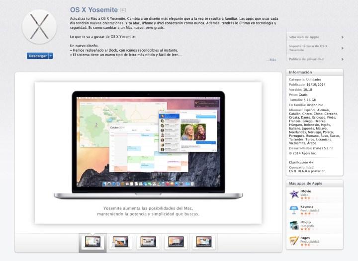 Yosemite Mac App Store