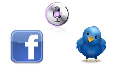 facebook twitter siri