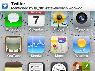 how to quickly dismiss banner notifications in ios 5