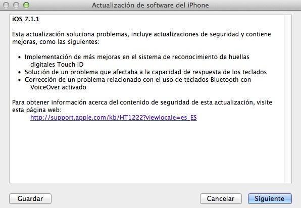 iOS 711 itunes