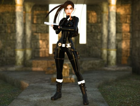 lara croft daz 3d studio game people girl gun 1024x768