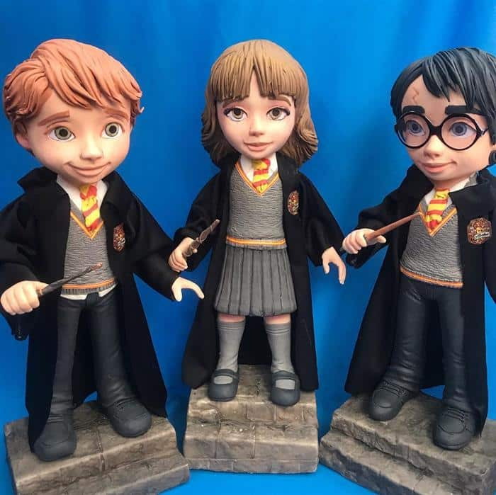 bonecos de biscuit harry potter
