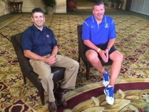 Andy Katz with Creighton head coach Greg McDermott. (Photo courtesy of Andy Katz)