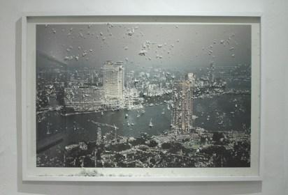 Souvenir Il Cairo, 2012, stampa fotografica su carta d'Amalfi e tecnica mista, cm. 75x107