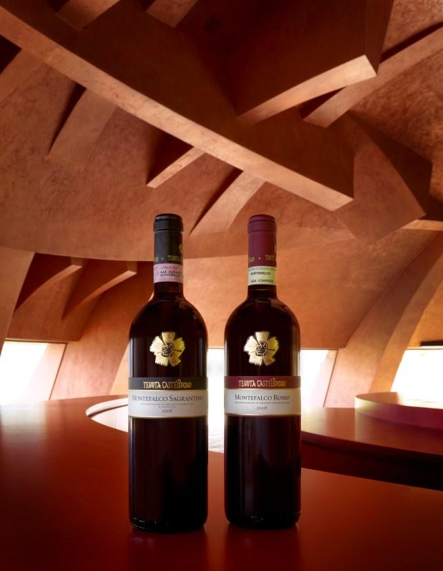 Sagrantino e Rosso di Montefalco della Tenuta Castelbuono. Foto: A. Mulas