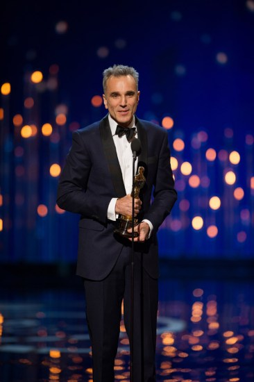 "The Oscar® for performance by an actor in a leading role goes to Daniel Day-Lewis for his role in ""Lincoln"" during The Oscars® from the Dolby® Theatre in Hollywood, CA, Sunday, February 24, 2013 live on the ABC Television Network. credit: Michael Yada / ©A.M.P.A.S."