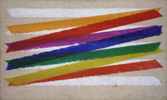 Piero Dorazio Unitas, 1965 Olio su tela, 45,8 x 76,5 cm Collezione Peggy Guggenheim, Venezia © Piero Dorazio, by SIAE 2013