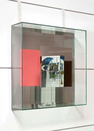 Chiara Dynys, Look at You (4), 2013, vetro, specchio, argento e colore, 60x60x18 cm Courtesy Spazioborgogno, Milano Foto Paolo Vandrash