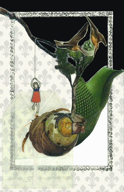 Alice Colombo, Apnea 2, 2013, tecnica mista e collage su tela,12 x 8cm ca