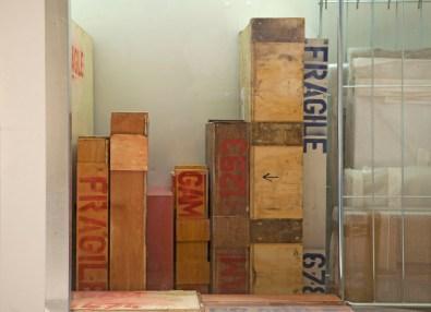 """Manuel Felisi, """"Menoventi"""" (particolare installazione), 2013, cella frigorifera e opere GAM - Galleria d'Arte Moderna Genova Nervi"""