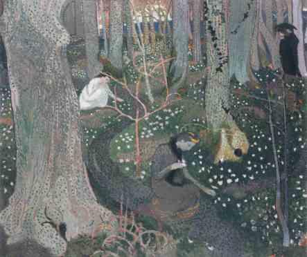 Maurice Denis, Avril (Les anémones) (Aprile [Gli anemoni]), 1891, olio su tela, 65x78 cm, Collezione privata