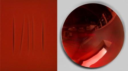 Lucio Fontana / Anish Kapoor, Concetto spaziale, Attese, 1967 / Untitled, 2002, Collezione privata, New York / Collezione privata © Fondazione Lucio Fontana, Milano, by SIAE 2014 / © Anish Kapoor, by SIAE 2014