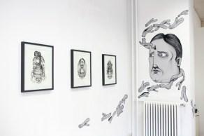 SeaCreative, Sogni di Grigio, 2014, installation view della mostra da ego gallery, Lugano