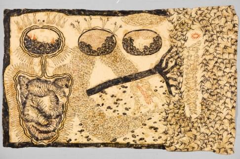 Simone Pellegrini, Concavi i fissi, 2006, tecnica mista su carta, 200x313 cm Courtesy Galleria Bonioni Arte, Reggio Emilia