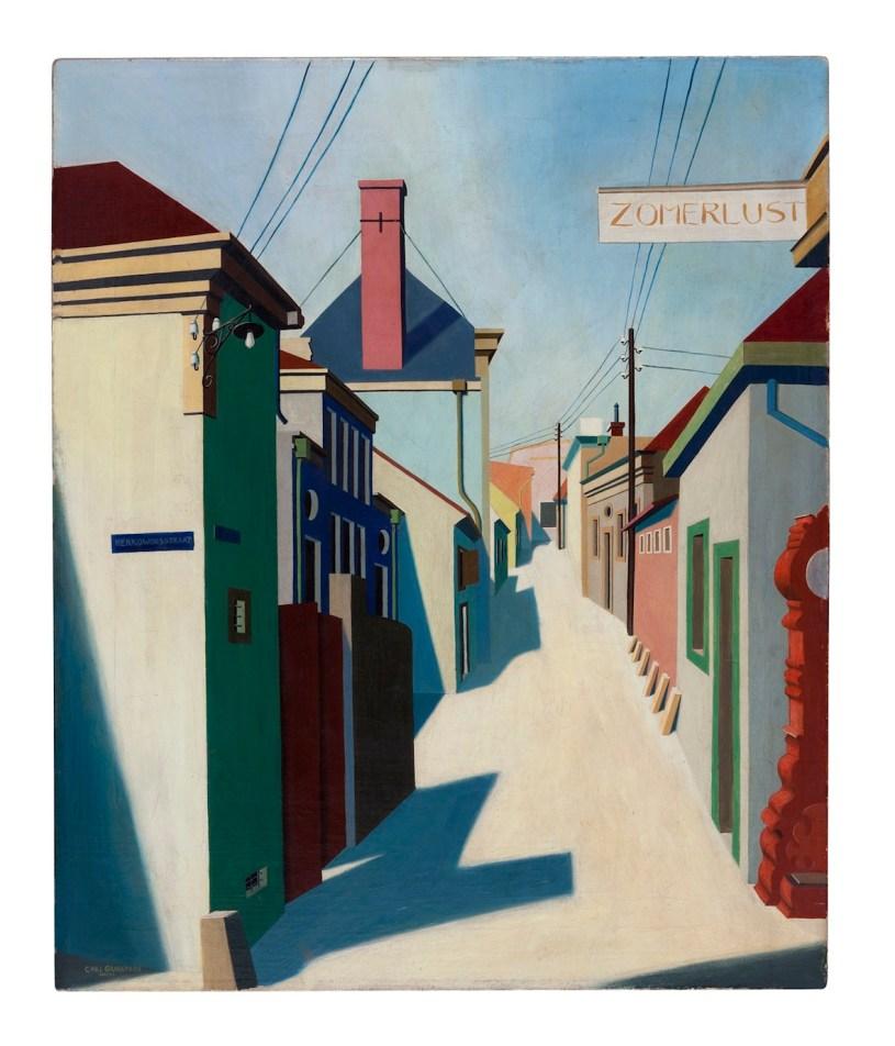 Carl Grossberg, Zandvoort, 1925, olio su tela, 60x50 cm
