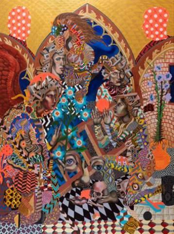 Zio Ziegler, Et in Arcadia Ego, 2014, tecnica mista su tela, 244x183 cm