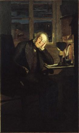 Giovanni Segatini, Ritratto di Carlo Rotta, 1897, olio e tempera su tela, 201.6x120.9 cm, Ospedale Maggiore Policlinico, Milano