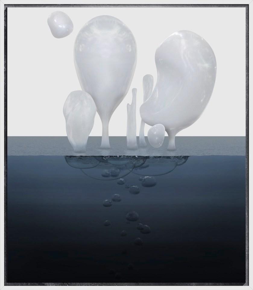 THE OTHERS, 2014, stampa digitale su carta cotoneHahnemühle, cornice verniciata e fogli d'argento, cm150x130, tiratura di 3