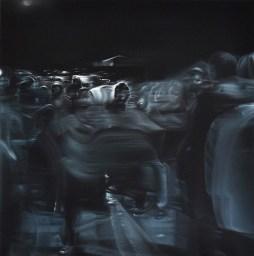 A. Sidibè, Illuminations, olio su tela, cm. 80X80-2013