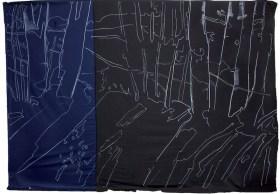 Giovanni Frangi: Sul bordo del fiume, 2014, 300x460cm, Pastelli grassi su tela