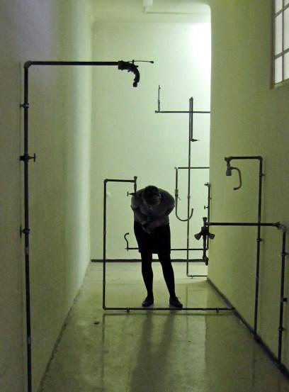 Charbel Samuel Aoun, Whispering taps, Installazione, tecnica mista, 2014