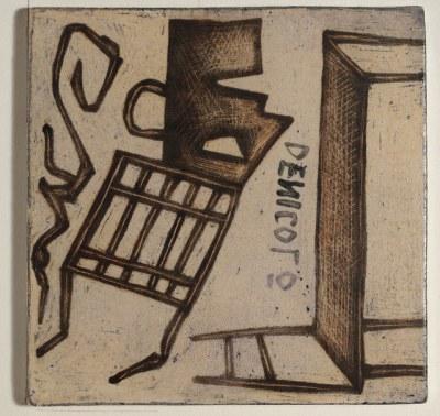 Mirco De Nicolò, Sketch 17, ceramica 20x20 cm