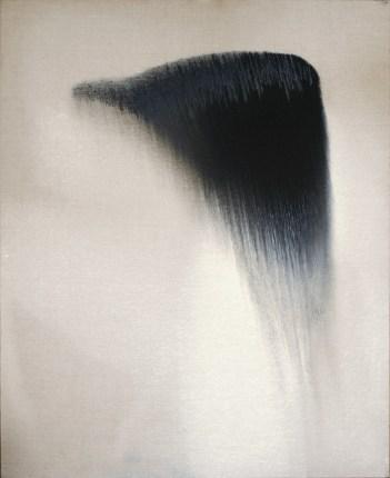 Vasco Bendini, dalla serie L'immagine ricevuta, 2010, olio su tela, 110x90 cm