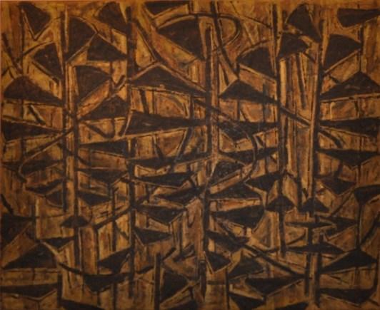 Marco Tirelli, Efisio, olio su tela, 190x230 cm