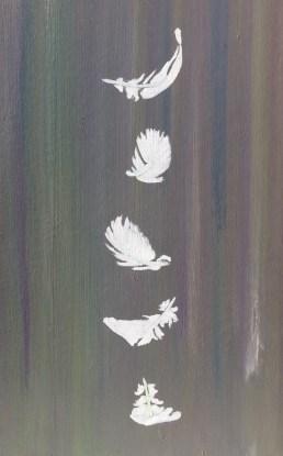 Matteo Sanna_ Paper wings_2015_oil on wood_50 x 32 cm