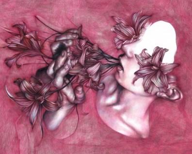 Marco Mazzoni, SOMNUM EXTERRERI SOLEBAT, 2015, matite su carta, 40x50 cm