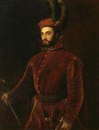 Tiziano Vecellio, Ritratto di Ippolito de' Medici vestito all'ungherese, 1532-34, olio su tela, 139x107 cm, Galleria Palatina, Palazzo Pitti, Firenze
