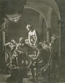 William Pether, Drawing Academy by Joseph Wright of Derby, 1772, mezzotint, 62.2x48.3 cm, Yale Center for British Art, Gift of Paul Mellon, Yale