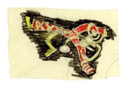Afro, Studio per spilla, matite colorate su carta, 50x75 cm
