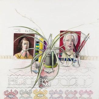 Beppe Devalle, Angolo di studio. La Tour (I versione), 1987, collezione privata