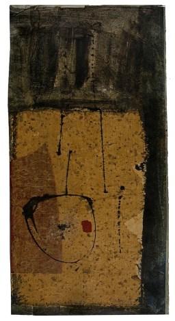 Eugenio Carmi, Senza titolo, 1958, olio, collage e pastello su carta, 64.5x33 cm Collezione dell'artista