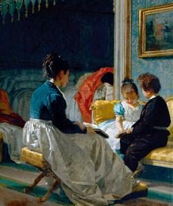 Giuseppe Sciuti, La pace domestica, 1870, olio su tela, cm 217x160_mostra i Capolavori